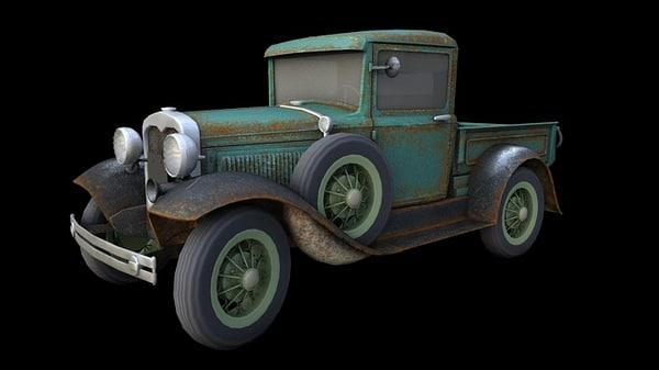 3d model pickup old