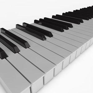 piano keys 3d obj