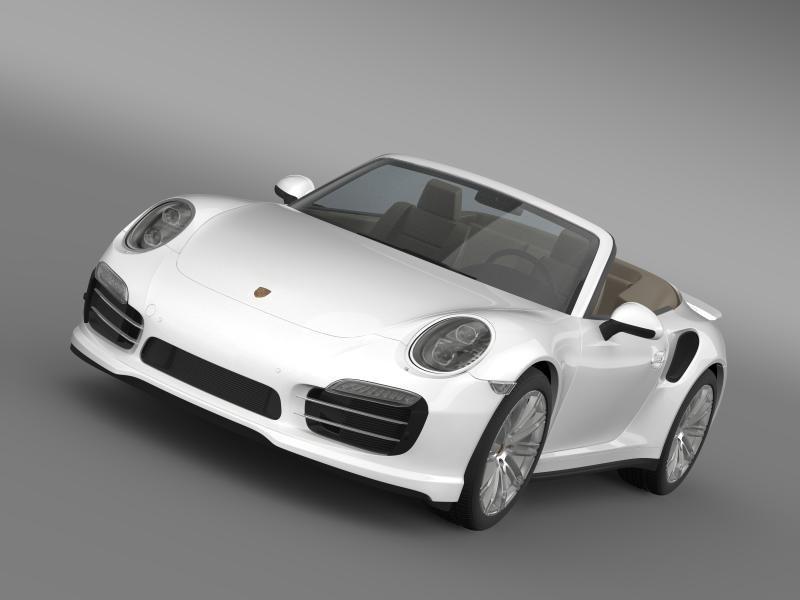 3d model porsche 911 turbo cabrio