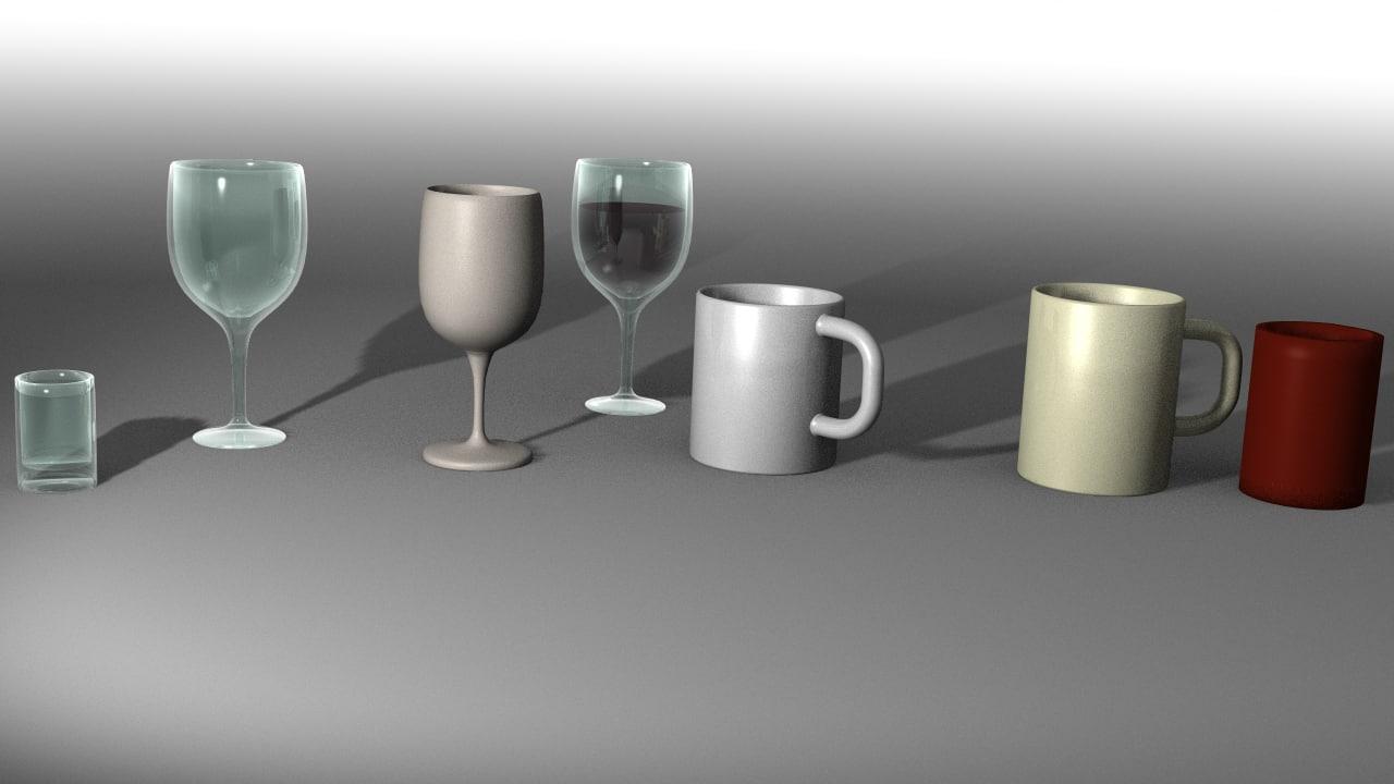 maya set glasses cups