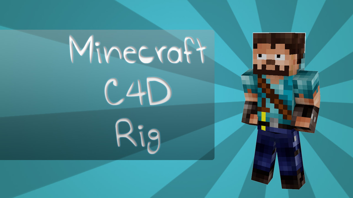 free c4d model minecraft rig zard