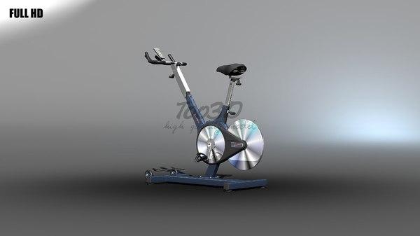 spin bike 3d model