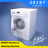 3d model washing machine bosch classixx