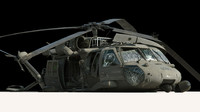 crashed black hawk wreck 3d model