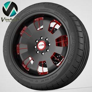 3d model wheel asanti vf603