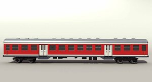 german passenger railcar obj