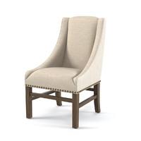 chair rh nailhead 3d max