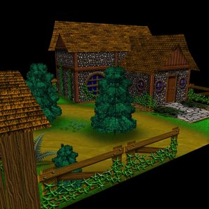 3d farm house
