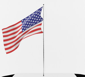 3ds max flagpole flag pole