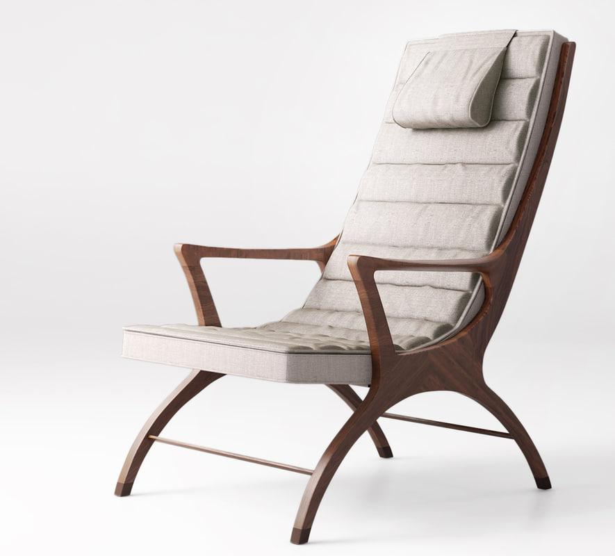 3d giorgetti chair armchair model