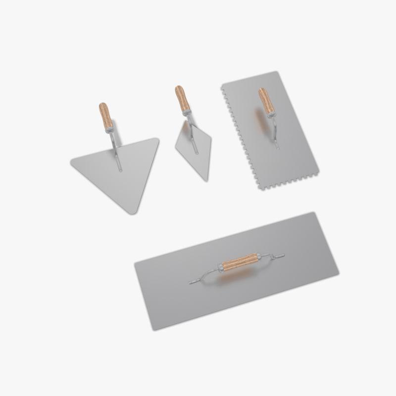 3d masonry tools model