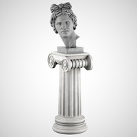 Apollo Bust With Pedestal