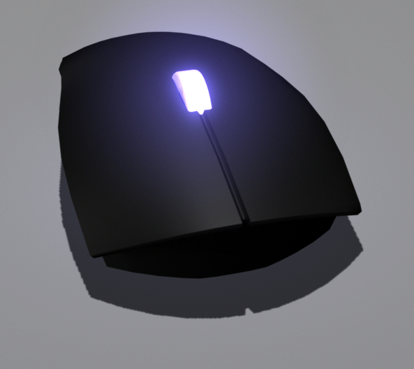 free computer mouse glowing wheel 3d model