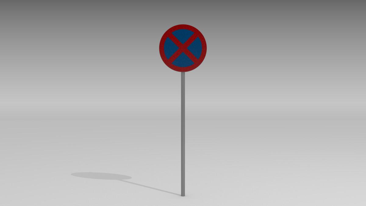 3d obj stopping sign