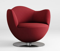 3d model dalia armchair cappellini