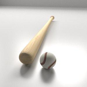 3d ball bat ball model