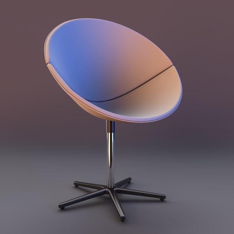 bror confino swivel chair 3d model