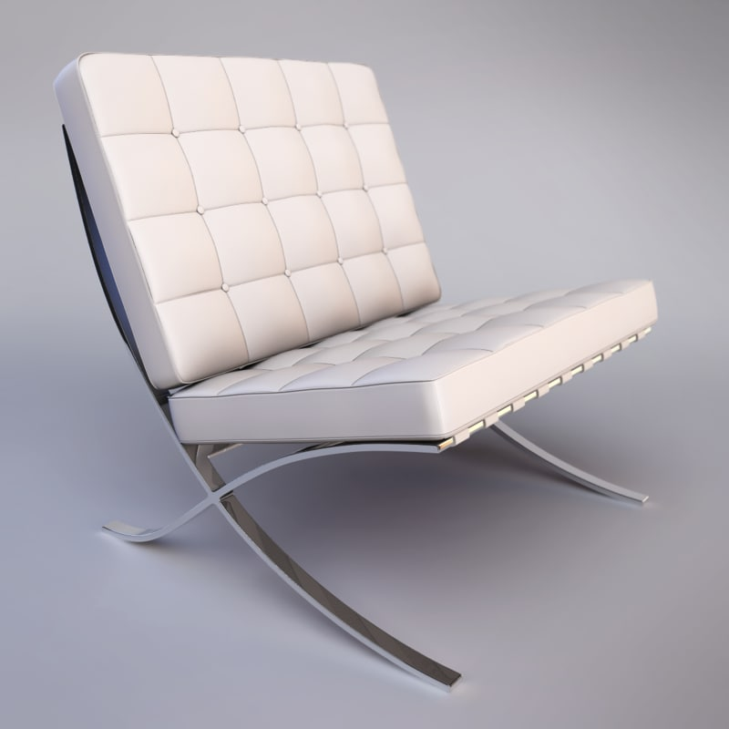 3d barcelona chair model