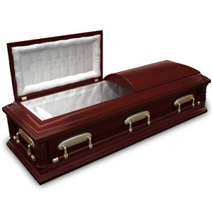 3d model of coffin casket