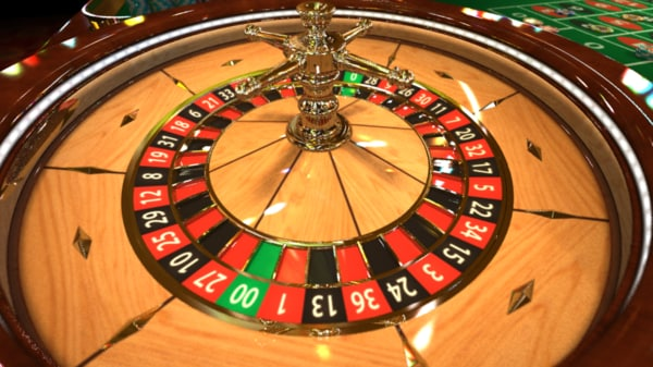 3d model casino roulette cylinder