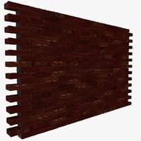 brick wall 01 3d model