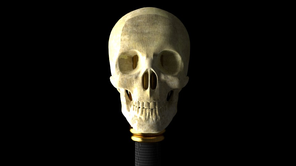 sword skulls 3d model