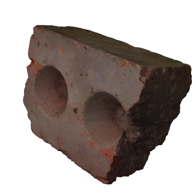 3ds brick -relistic frgment