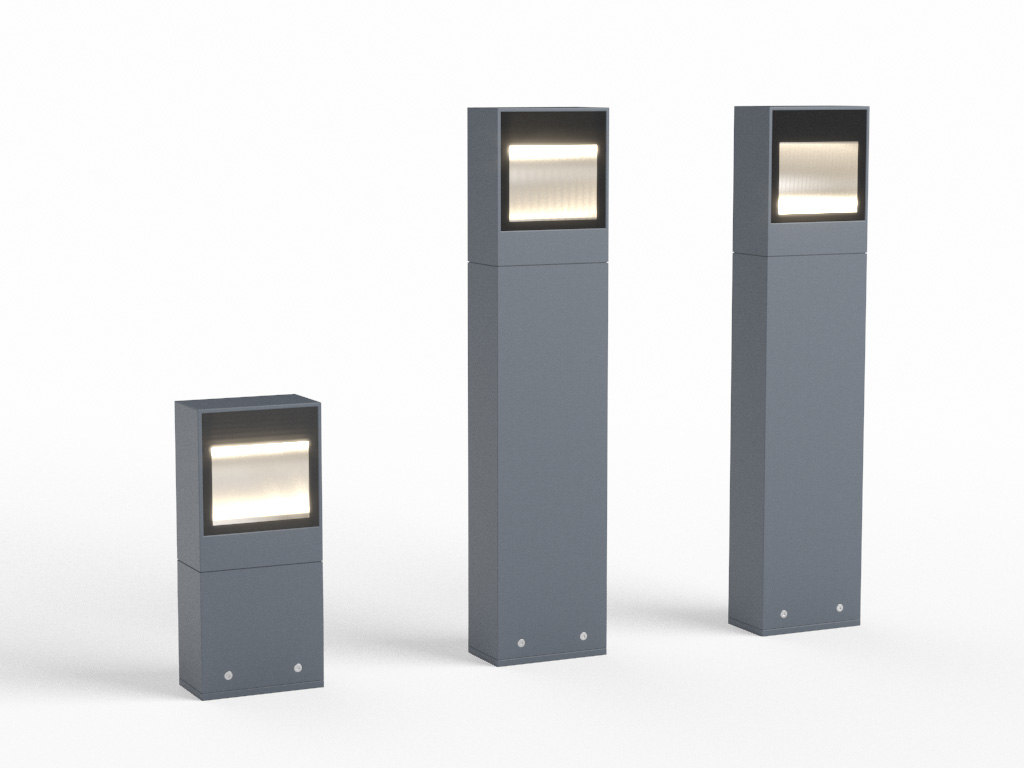 erco lightmark bollard luminaire 3d model