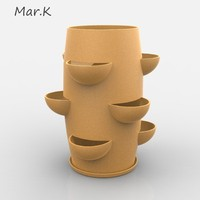 flowerpot parsley 3d model