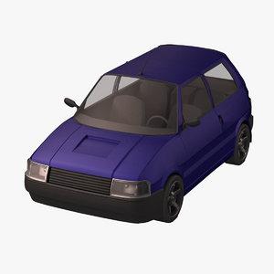 standar car 3d model