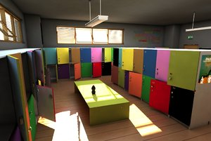 locker room cabinets 3d max