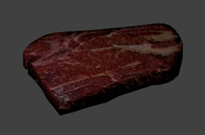 free blend model low-poly food