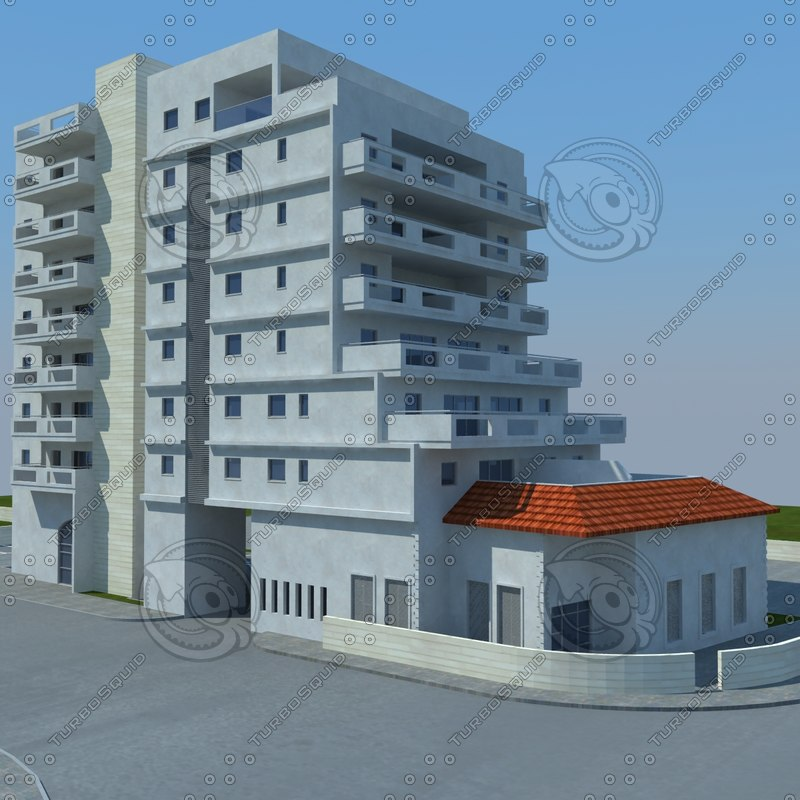 buildings 1 4 3d obj