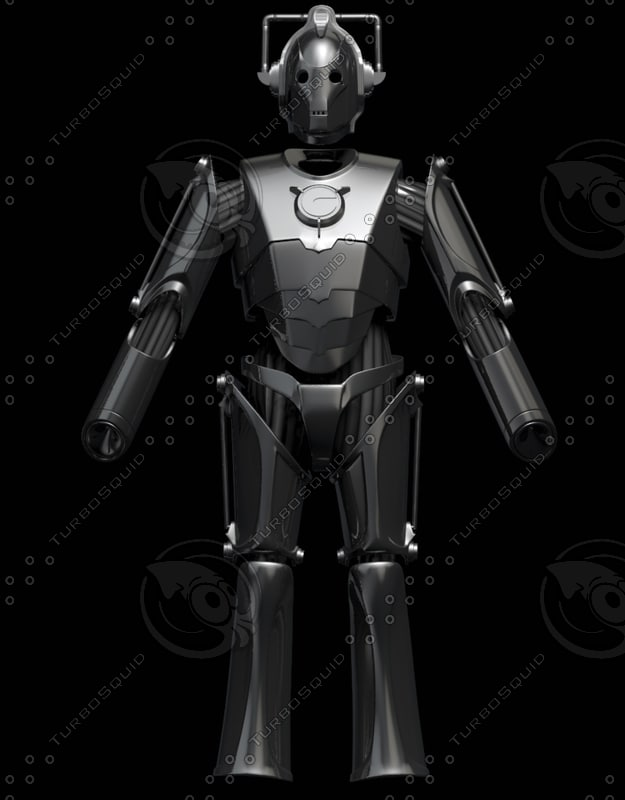 cyberman modeled 3d model