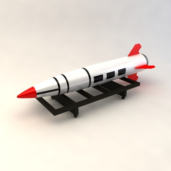 mgm-140 tactical ballistic missile 3d model