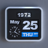 Animated realistic wall flip (OEM) clock by