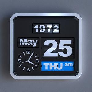 max flip oem clock animate