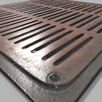 blend blender cycles metal grate