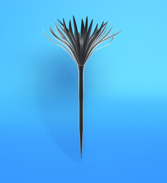feather worm 3d model
