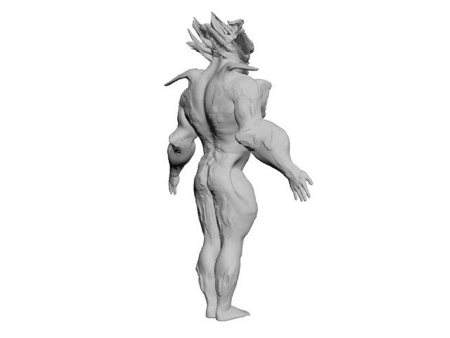 sculpted zbrush obj