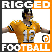 Rigged American Football Player