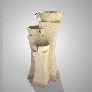 3d fountain model