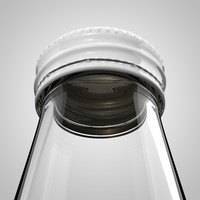 cinema4d glass bottle threaded cap