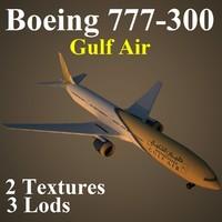 boeing 777-300 gfa 3d max