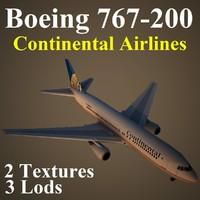 3d model boeing 767-200 coa