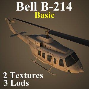 3d model bell basic helicopter
