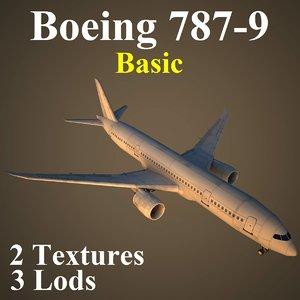 3d boeing 787-9 basic model