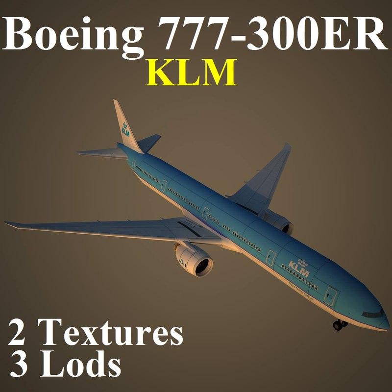 3d model boeing klm