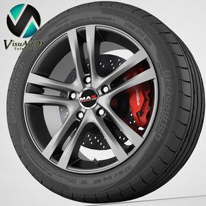 3d wheel mak zenith