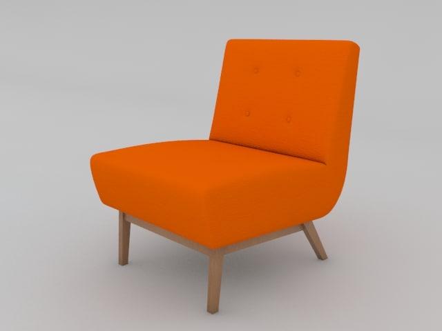 metro chair 3d model